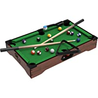 Deals on Hey Play Mini Tabletop Pool Set Billiards Game w/Accessories