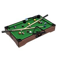 Trademark Global Mini Tabletop Pool Set Billiards Game Includes Game Balls, Sticks, Chalk, Brush and Triangle