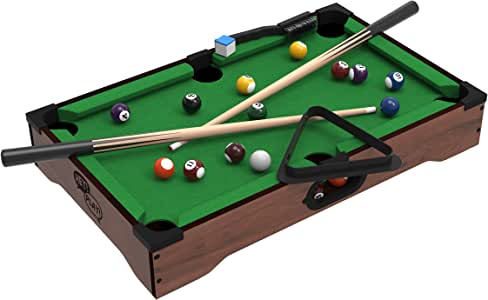 Mini Table Top Pool Table with Cues, Triangle and Chalk 1: Amazon.es: Juguetes y juegos