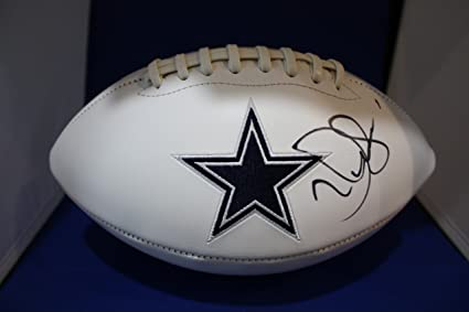 351c983bb99 Autographed Jerry Jones Dallas Cowboys Logo Football with COA at ...