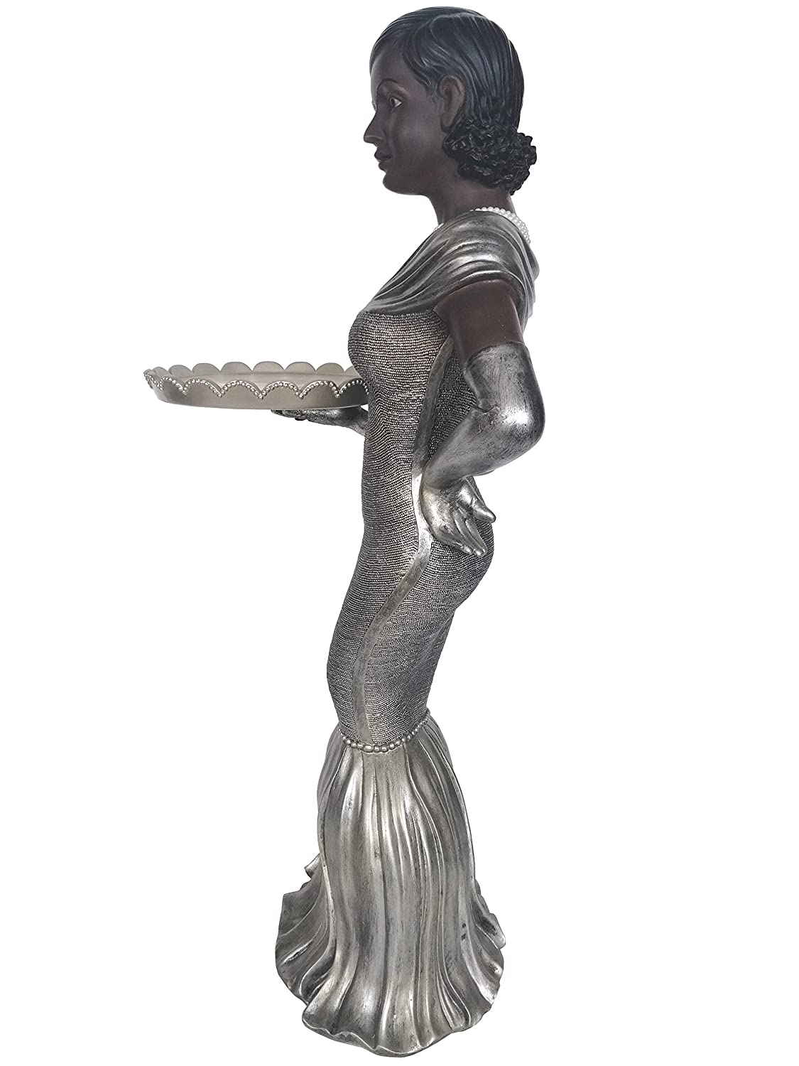 30-inch High Bombay Winston the Host Butler Statue Side Table