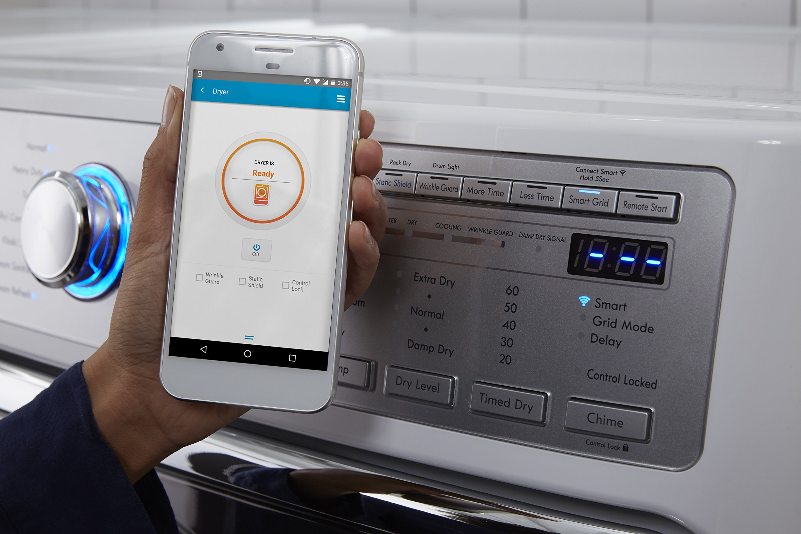 Kenmore Smart 91982 9.0 cu. ft. Gas Dryer with Accela Steam Technology in White - Compatible with Amazon Alexa, includes delivery and hookup (Available in select cities only) by Kenmore (Image #5)