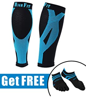 HIGH FIT Pro Calf Compression Sleeves - Enjoy Extra Support, Enhanced Performance & Faster Recovery