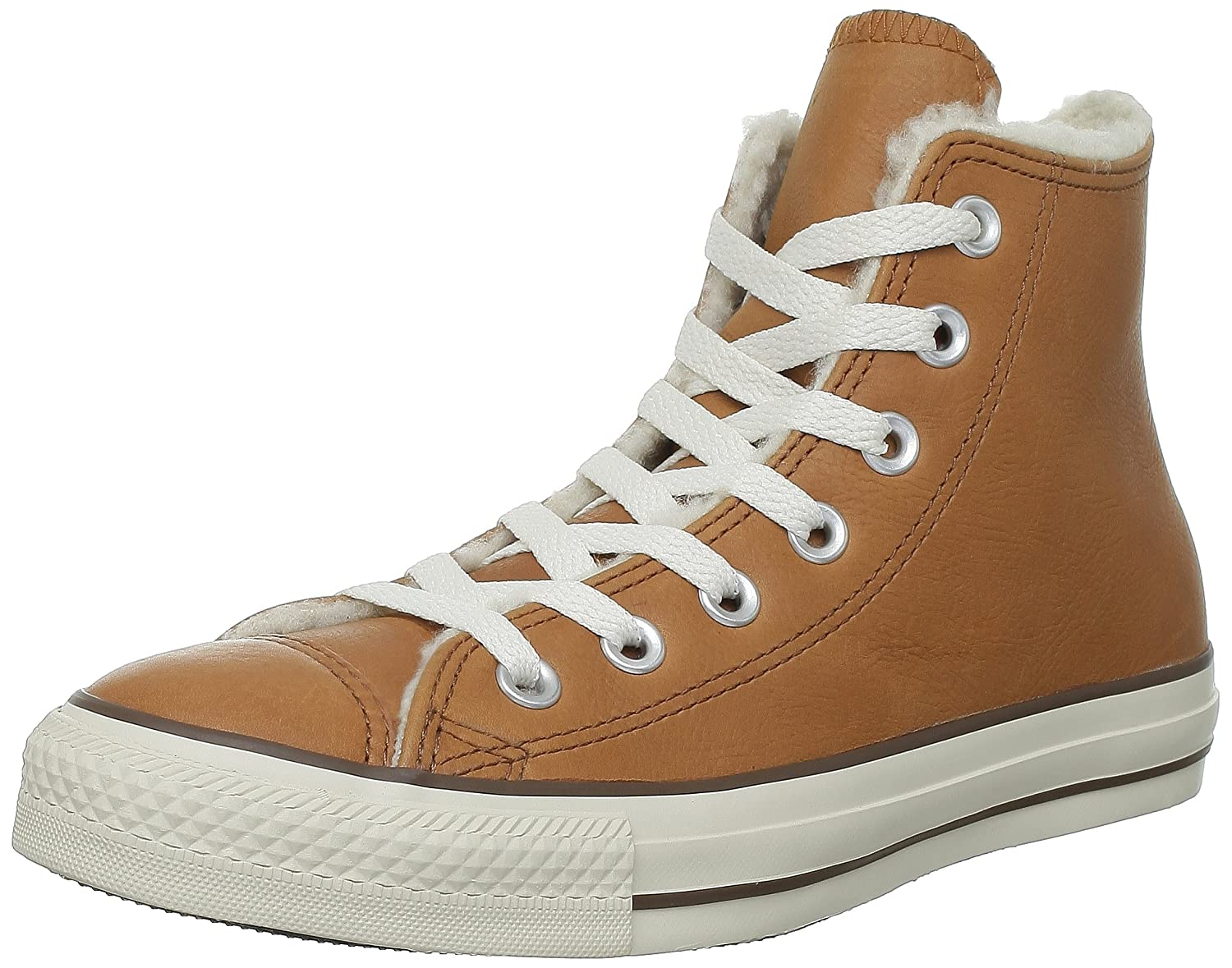 Converse Star Chuck Taylor All Star Converse Shearling Leather Hi, Baskets mode mixte adulte 37 EU|Marron (Rouille) 1dc206