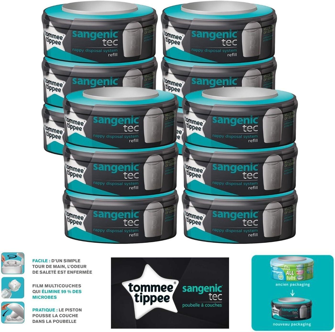 Tommee Tippee Sangenic Tec - Recarga para papelera de pañales – Juego de 12 unidades: Amazon.es: Bebé