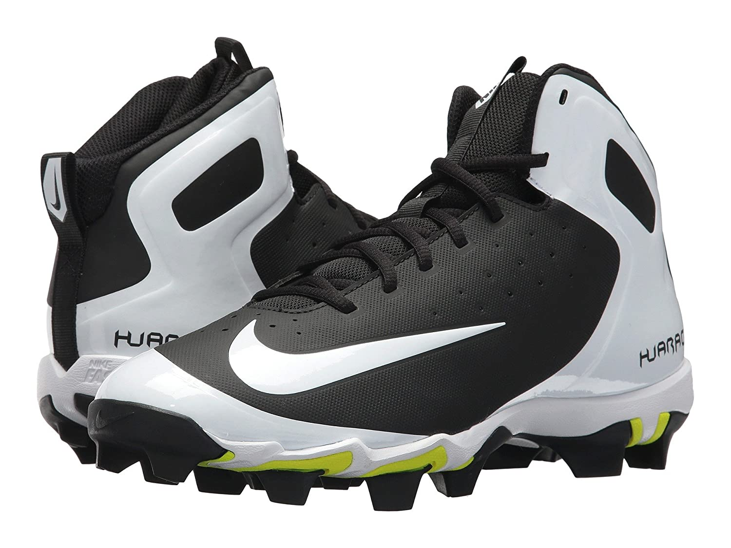 (ナイキ) NIKE メンズ野球ベースボールシューズ靴 Alpha Huarache Keystone Mid Black/White/White/Wolf Grey 8 (26cm) D Medium B078Q1VS4T