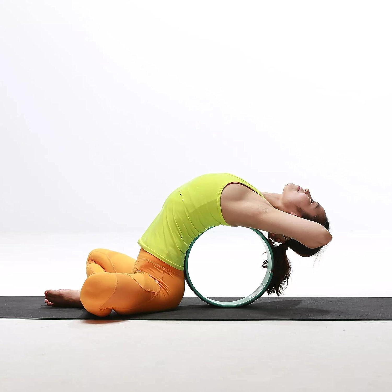 Exerz Liberación De La Tensión Muscular Rueda de Rodillo de Yoga Pilates - para el Estiramiento, el Equilibrio, el Aumento de la flexibilidad y la ...