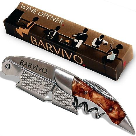 Sacacorchos para meseros profesionales de BARVIVO – Destapador usado por meseros, sommeliers y barmans del