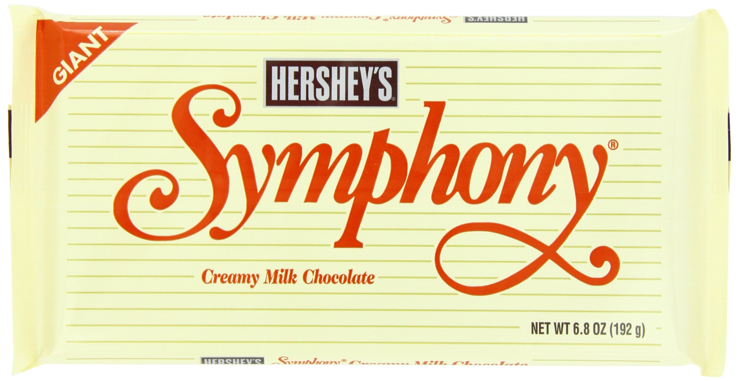 Hershey Giant Symphony Milk Chocolate Bar, 6.8 Ounce (Pack of 12) by Hershey