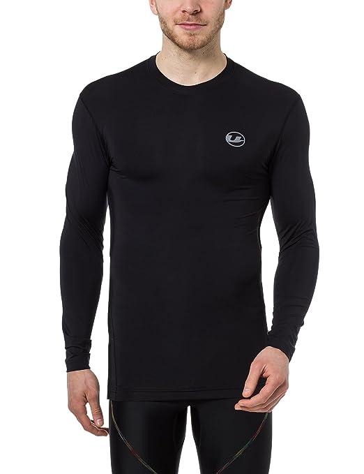 Ultrasport Camiseta de compresión de manga larga para hombre, camiseta funcional Ben, transpirable - ideal como maillot de ciclismo, ...