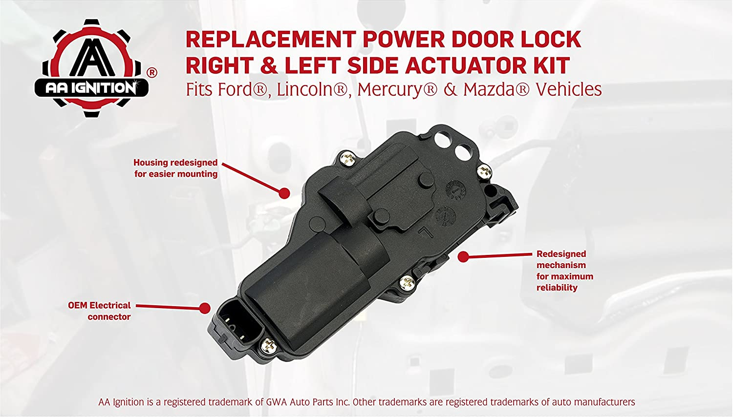 Power Door Lock Actuator Right Left Side Fits Ford 1999 Expedition Keyless Entry Wiring Diagram F150 F250 F350 F450 Excursion Mustang Replaces 6l3z25218a43aa