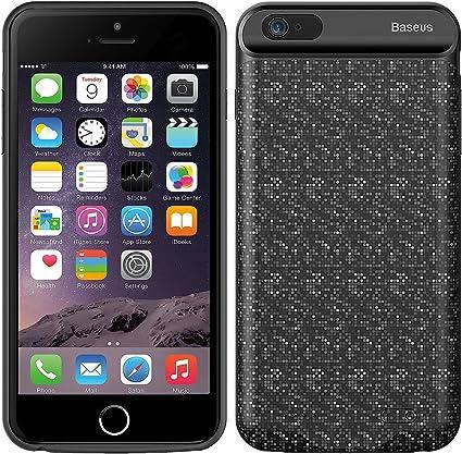 iPhone 6/6s Coque batterie, Baseus Grille Mobile Power Dos Clip Coque de téléphone, sans menton Ultra mince Extended batterie de secours rechargeable ...