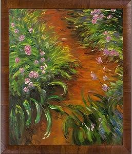 "La Pastiche Irises Framed Oil Painting, 27"" x 23"", Multi"
