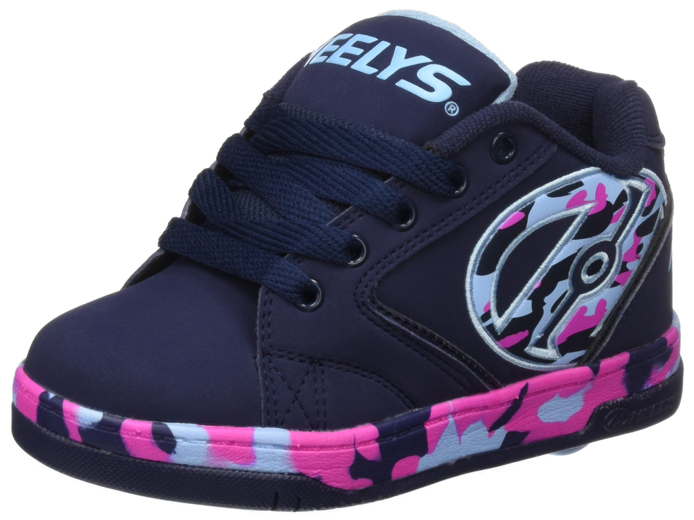 Heelys Girl's Propel 2.0 (Little Kid/Big Kid/Adult) Navy/Pink/Light Blue/Confetti Sneaker 9 Women's M
