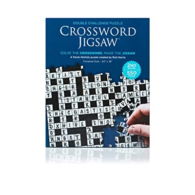 Crossword Jigsaw Puzzle 2nd Edition - 550 Piece 2-in-1 Puzzle Game for Adults: Babalu: Toys & Games