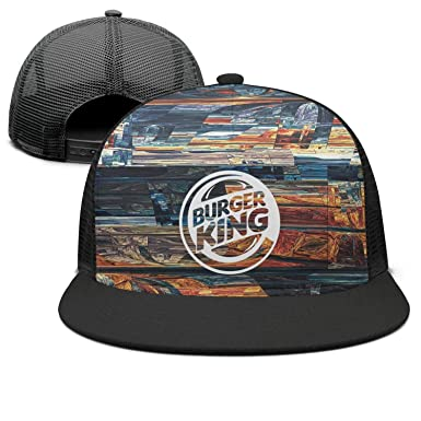 UONDLWHER Adjustable Unisex Burger-King-Logo Cap Low Profile Snapback hat