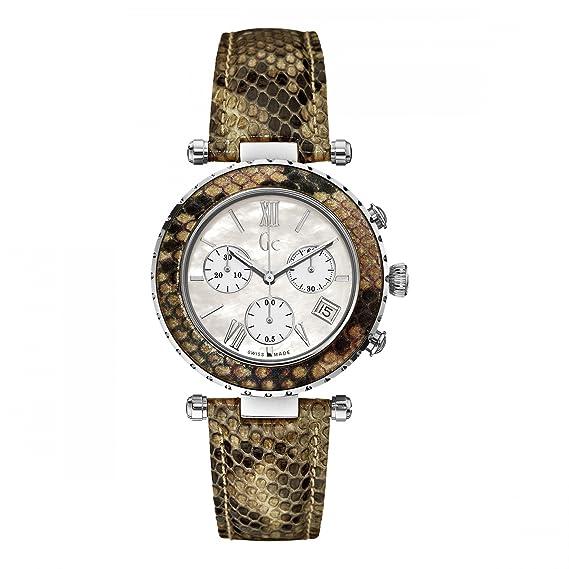 GC X43003M1S - Reloj para mujeres, correa de cuero multicolor: Amazon.es: Relojes