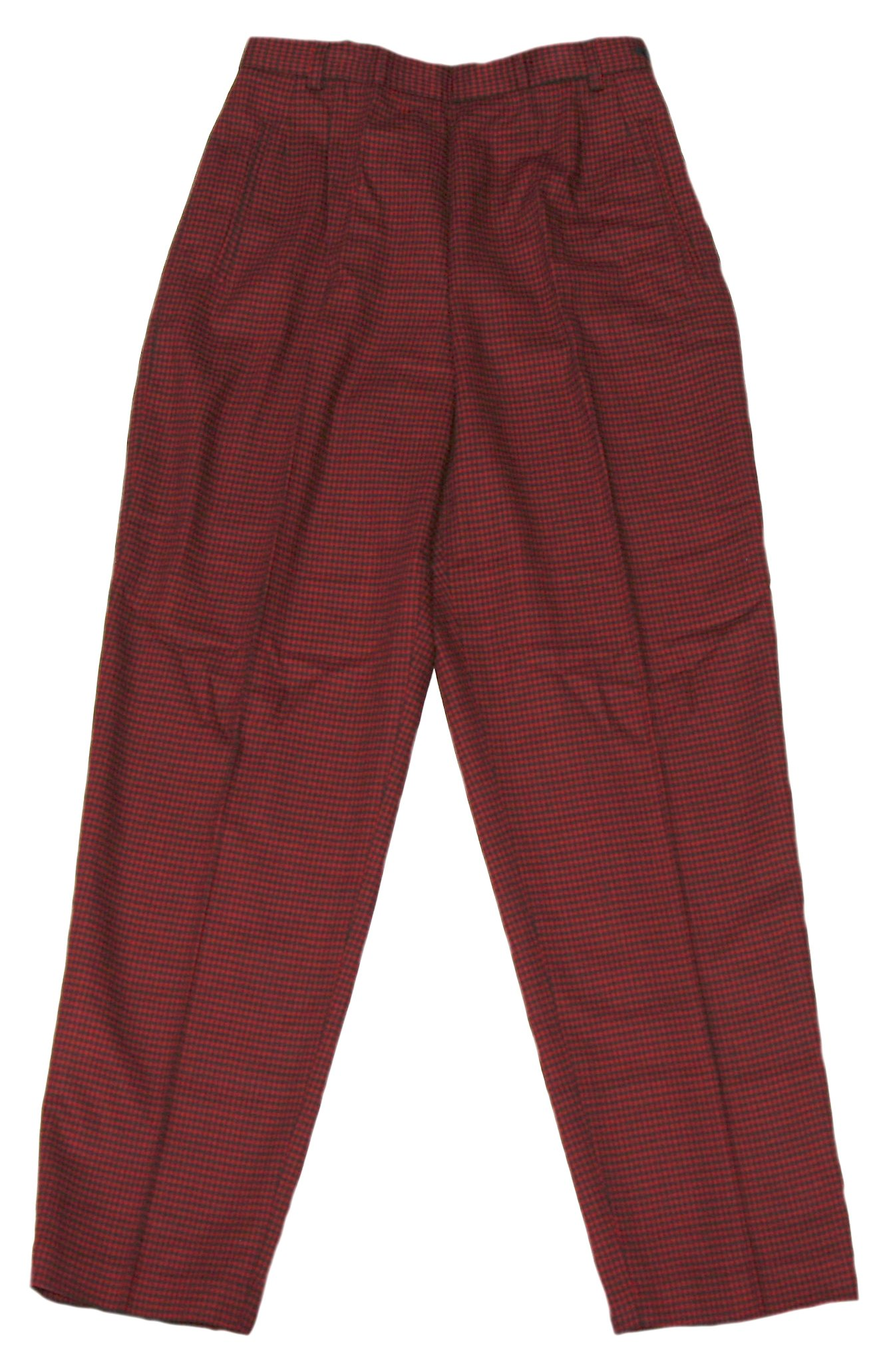 Liz Claiborne Women's Red Houndstooth Dress Pants Looking Glass Collection Size 8