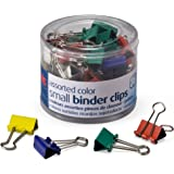 OfficemateOIC Small Binder Clips, Assorted Colors, 36 Clips per Tub (31028)