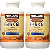 Kirkland Signature Fish Oil Concentrate with Omega-3 Fatty Acids, 800 Softgels, 1000mg