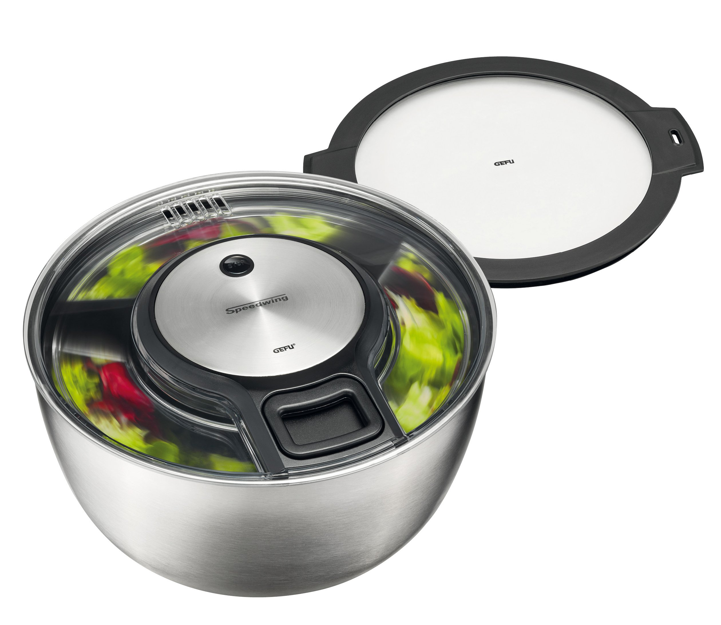 GEFU Limited Edition Salad Spinner SPEEDWING with stay fresh lid