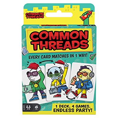 Common Threads 4-in-1 Family Card Game, Matching Game for 7 Year Olds and Up: Toys & Games