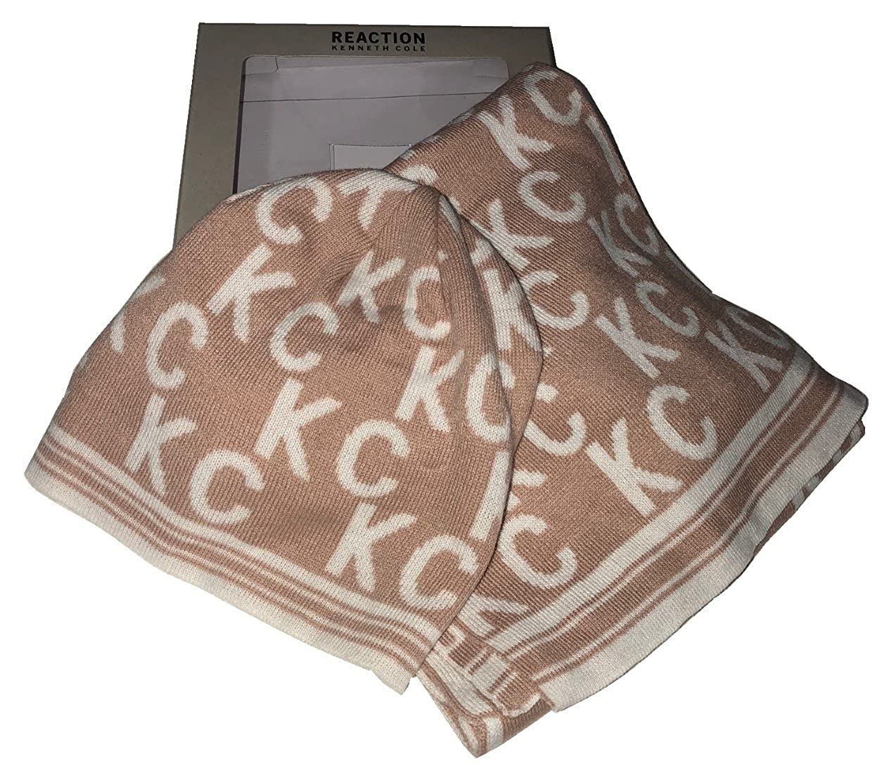 REACTION KENNETH COLE Signature KC Scarf   Beanie Set 56c7d667a35e