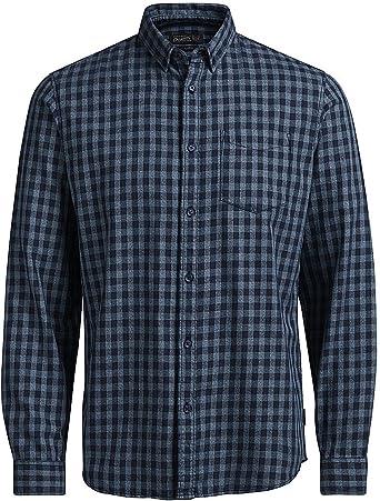 Jack & Jones Jorgerald Shirt LS Camisa, Multicolor (Dark Denim), Medium para Hombre: Amazon.es: Ropa y accesorios