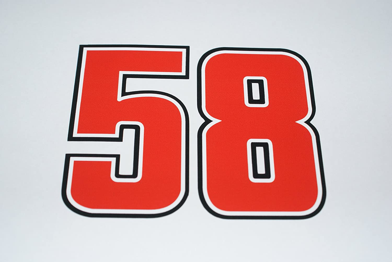 Rapro Graphics Marco Simoncelli Numéro de Course 58Autocollant (Medium)