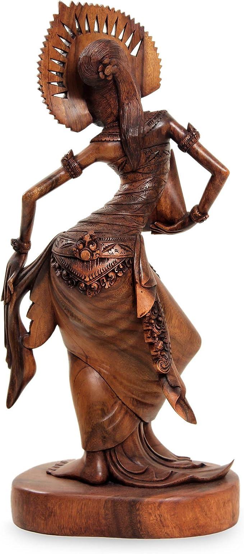 Amazon Com Novica Large Brown Suar Wood Sculpture 24 5 Tall Janger Dancer Home Kitchen