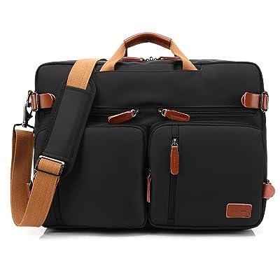 CoolBELL Convertible Backpack Messenger Bag Shoulder bag Laptop Case Handbag Business Briefcase Multi-functional Travel Rucksack Fits 17.3 Inch Laptop For Men / Women (Black) 80%OFF