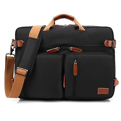 CoolBELL Bolso de hombro convertible en mochila para guardar ordenadores portátiles Maletín de negocios. Mochila