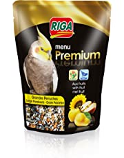 Riga (petfood Menu Premium Grandes Perruches Vitamines et Fruits Doypack de 800 g - Lot de 3