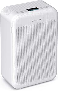 TaoTronics Air Purifier for Home Smoke Pollen Pet Dander, Air Cleaner with H13 True HEPA Filter 3 Fan Speeds Low Working Noise Air Quality Indicator Child Lock Sleep Mode for Bedroom Office