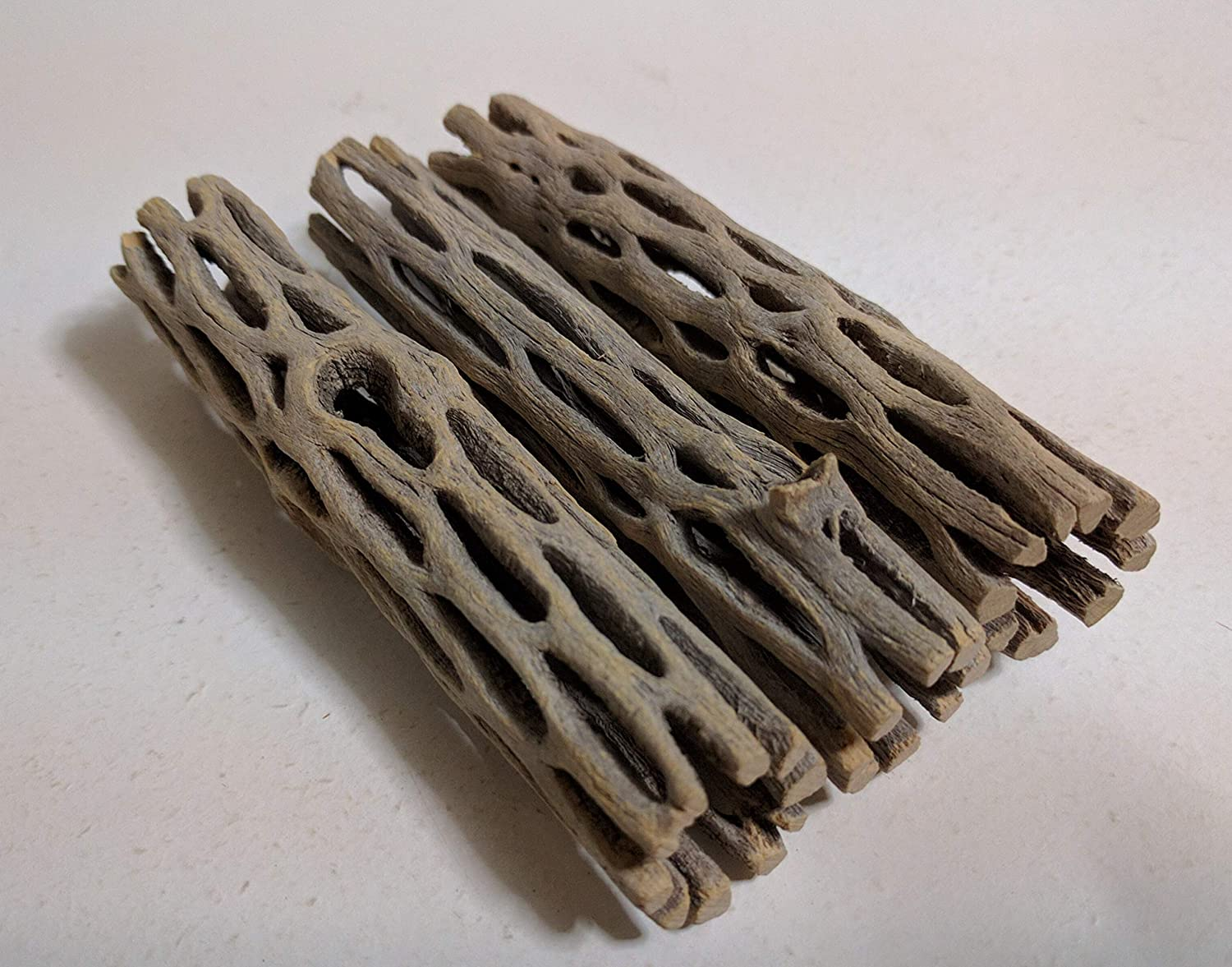 Shrimp Small Natural Cholla Wood for Aquarium Decoration 3 Pieces 4 inches Long Hermit Crab Chew Toys for Small Pets