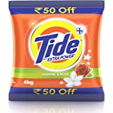 Tide Plus Detergent Washing Powder with Extra Power Jasmine and Rose Pack - 4 kg (Rupees 50 off)