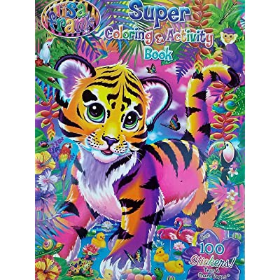 Lisa Frank Tiger Art Cover Coloring and Activity Book with 100 Stickers: Toys & Games