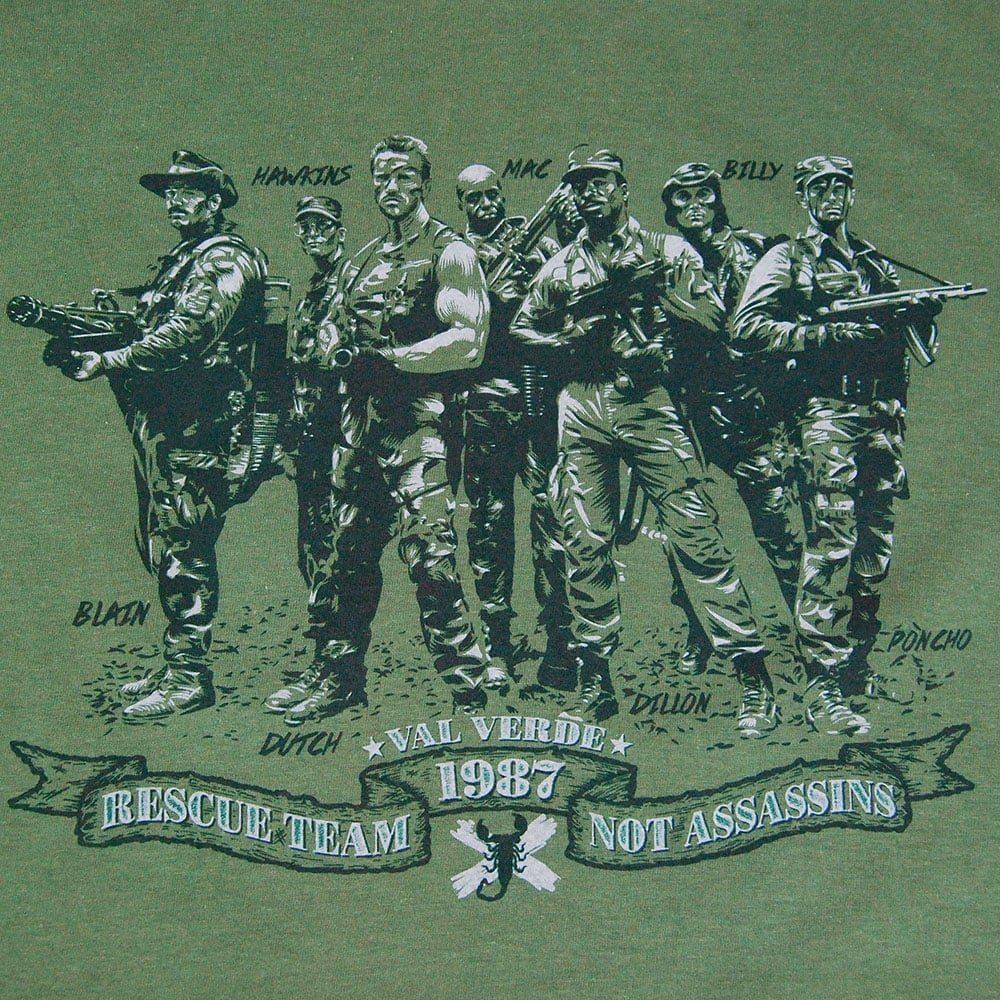 Amazon.com: Mens Retro Rescue Team Not Assassins T Shirt Military Green XL - Chest 42-44in Military Green: Clothing