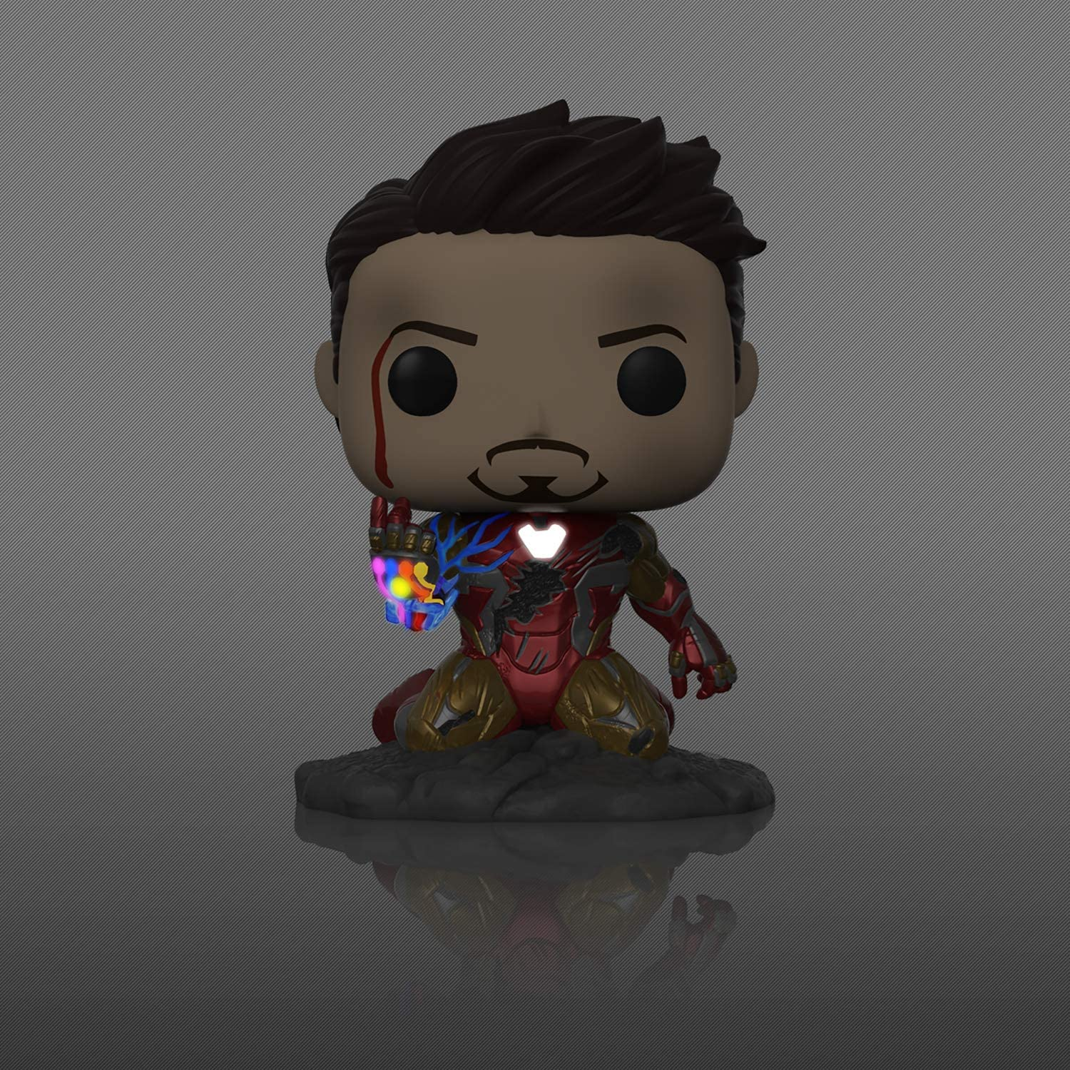 POP I Am Iron Man Glow-in-The-Dark PX Previews Exclusive Marvel Endgame Avengers