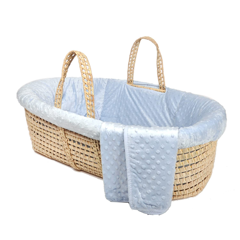 Tadpoles Minky Dot Moses Basket Bedding Only, Natural MBBDVL110