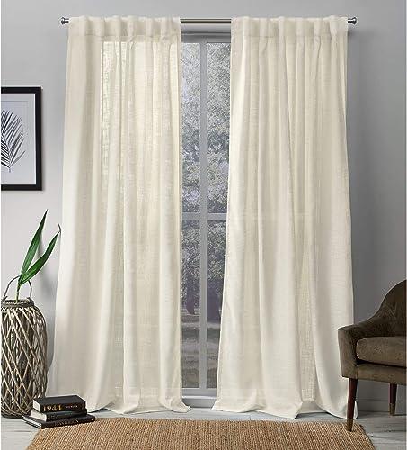 Exclusive Home Curtains Bella Sheer Hidden Tab Top Curtain Panel Pair