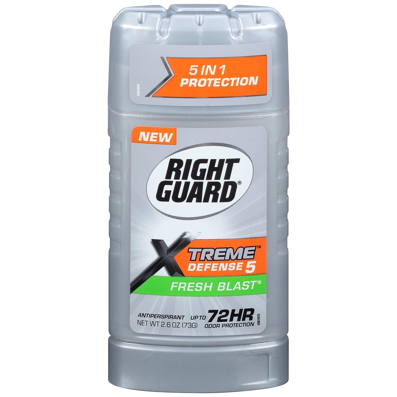 Right Guard Xtreme Defense 5 Anti-Perspirant & Deodorant, Fresh Blast 2.60 oz ( Packs of 2)