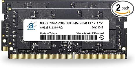 PARTS-QUICK Brand 16GB Memory Module for Dell OptiPlex 7040 Micro DDR4 2RX8 SODIMM 2400MHz RAM