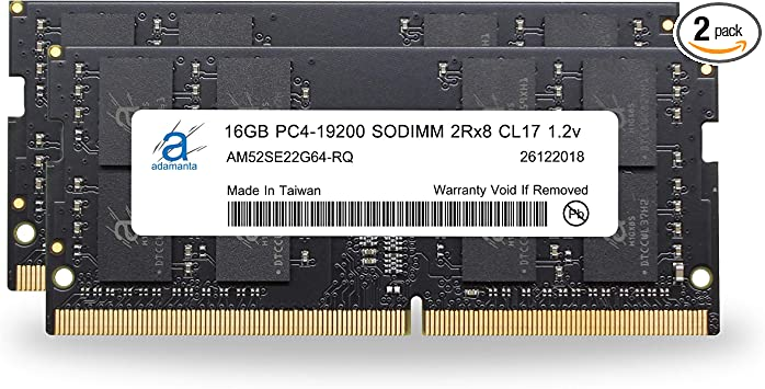 Adamanta 32gb 2x16gb Laptop Memory Upgrade Compatible For Acer Nitro 5 An515 Ddr4 2400mhz Pc4 19200 Sodimm 2rx8 Cl17 1 2v Notebook Ram Dram At Amazon Com