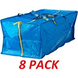 Ikea 901.491.48 Frakta Storage Bag, Blue, 8 Pack