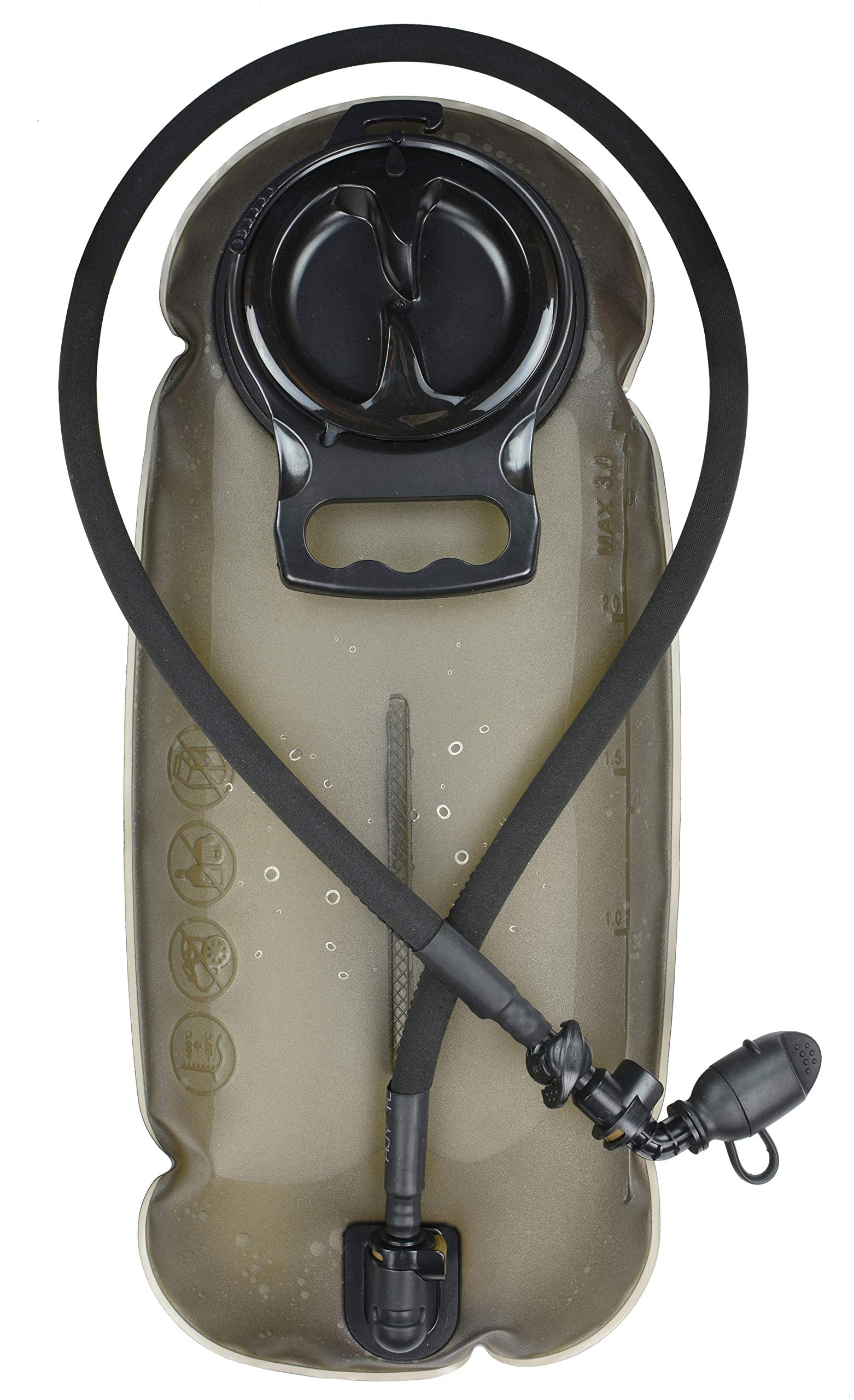 MARCHWAY 2L/2.5L/3L Tactical TPU Hydration Bladder, Tasteless BPA Free Water Reservoir Bag with Insulated Tube for Hydration Pack for Cycling, Hiking, Running, Climbing, Biking (New 3L Grey 100oz) by MARCHWAY