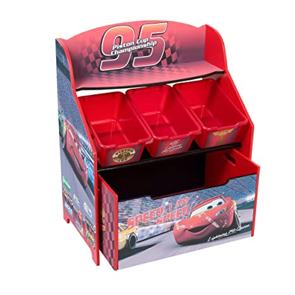 Cars 3 Tier Storage Organizer With Roll Out Toy Box