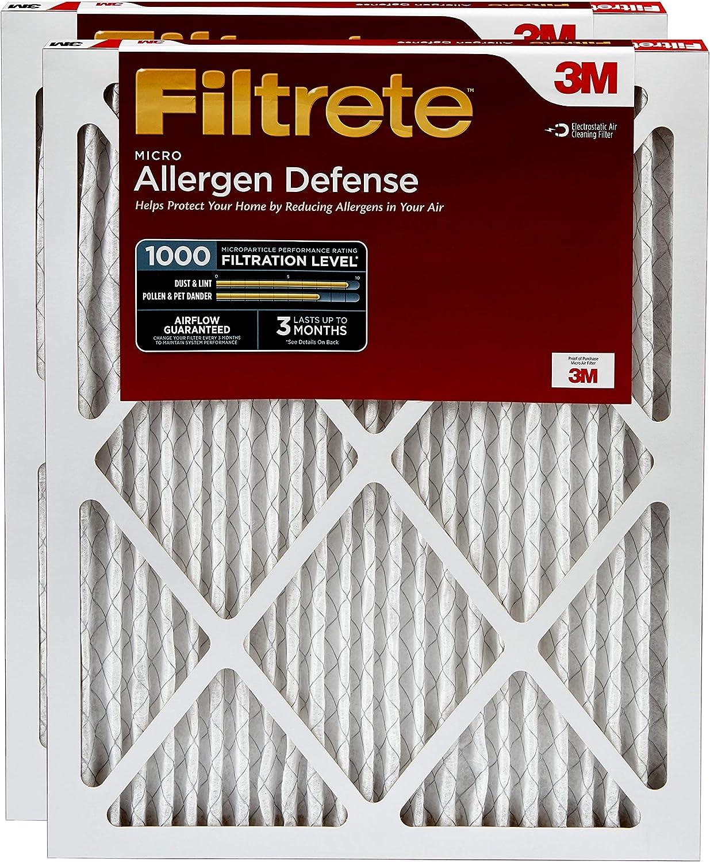 Micro Allergen Defense Filtrete 18x20x1 AC Furnace Air Filter 4-Pack MPR 1000