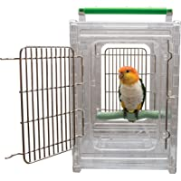 CaitecPerch & Go Polycarbonate Bird Carrier, Clear View Travel Cage