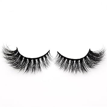 4c2dfc18caf Amazon.com : Visofree Lashes 3D Mink Eyelashes Handmade Wispy and Curly Mink  Lashes High Volume False Eyelashes (D101) : Beauty